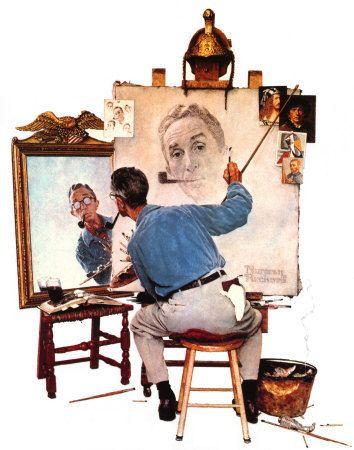 Le triple autoportrait de Rockwell