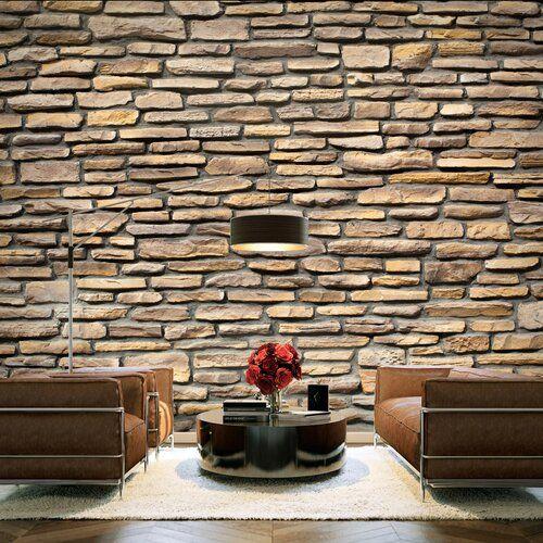 East Urban Home Imitation Stone 2 7m X 350cm Wallpaper 3d Wallpaper Mural Stone Wallpaper 3d Stone Wallpaper