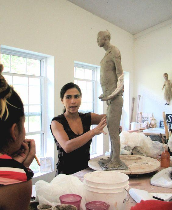 Cristina Cordova giving a workshop