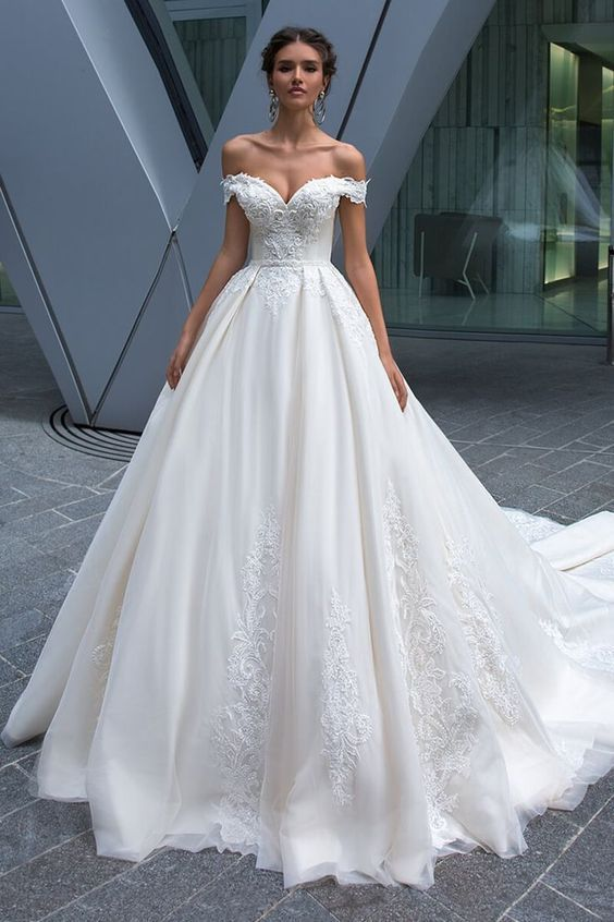 File 77a76a1ce3 Large Off Shoulder Wedding Dress White Bridal Dresses Ball Gowns Wedding