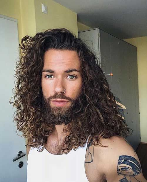 Newest Males Lengthy Hair Concepts Hairconcepts Hairdesign Men Long Hair Check More At Https Hairfas Lockiges Haar Manner Barte Und Haare Lockige Frisuren