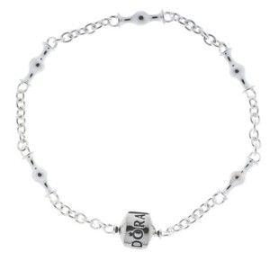 "Genuine PANDORA Sterling Silver 7.5 Five Clip Charm Bracelet 591704-19"""