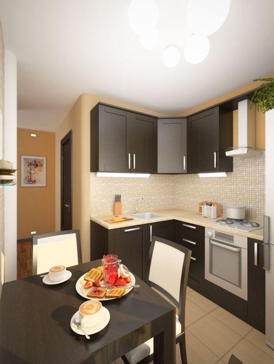 проект кухни дизайн фото 6 кв.м