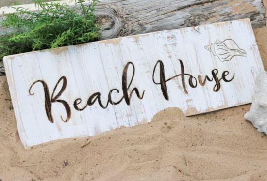 Beach House Wood Art Signs Farmhouse Style Beach House Signs