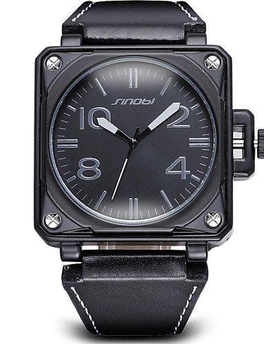sinobi®big quadratischen Zifferblatt Bronze antike Uhr Männer Luxus und weise beiläufige Schwarzes PU-le - http://uhr.haus/weiq/sinobi-big-quadratischen-zifferblatt-bronze-uhr