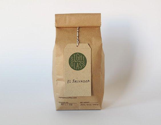 brown paper bag + hang tag