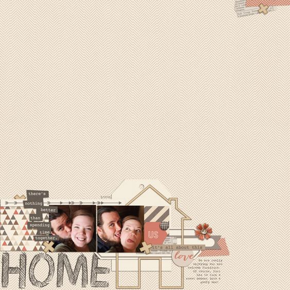 Comfy Cozy Kit from peppermintcreative.com | page by @iffybean  #digiscrap #layouts
