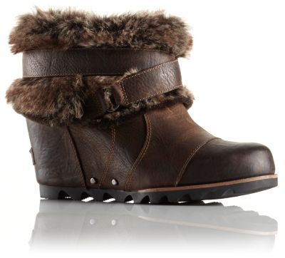 Taking cues from the her taller big sister, this sassy waterproof ankle boot comes on strong with style and still manages to deliver big in the performance department. The full-grain leather upper rejects rain and snow while the faux fur collar keeps things extra-extra cozy. A molded rubber outsole and super walkable wedge platform mean this little beauty is also crazy comfortable