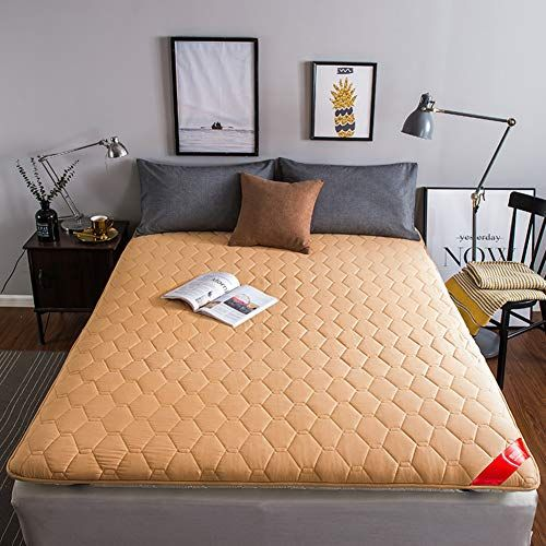Redsun Sleeping Tatami Mattress Topper Foldable Thick Soft Cotton Mattress Protector Non Slip Mattre Thick Mattress Topper Mattress Memory Foam Mattress Topper