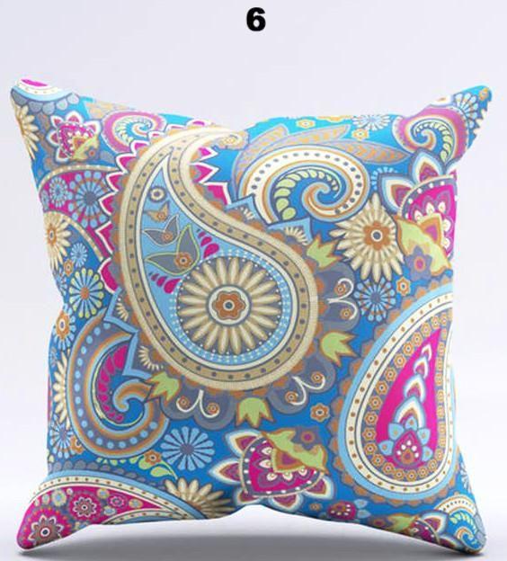 Rhapsody Geometric Woven Pillow Cover 22 Colors Pillows