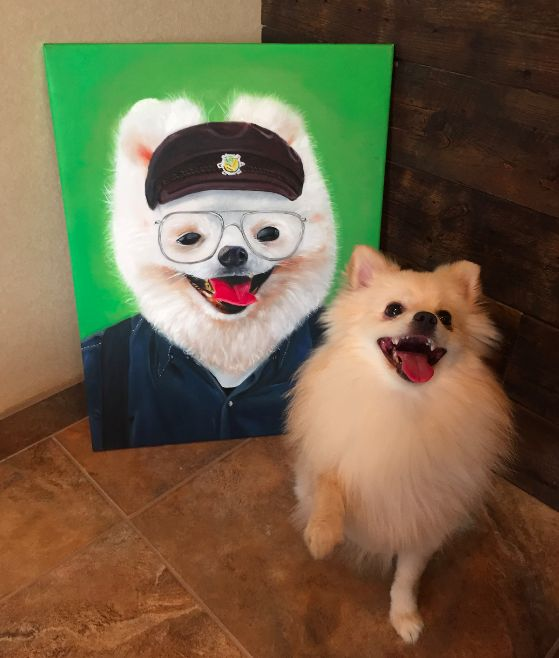 Paintings Of Pups As Envisioned By Their Crazy Hoomans George - Game of thrones pet paintings