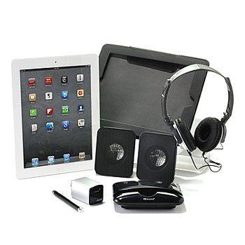 429-920 - Apple iPad Wi-Fi Bundle w/ Folio Case, Dock, Speakers, Stylus & Charge Kit  #shopnbcFavorites