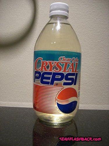 Crystal Pepsi!