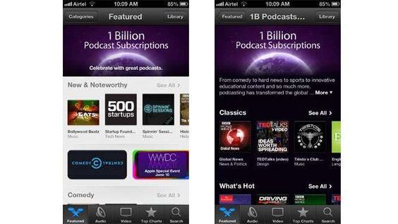 """But the heart of podcasting is finding your favorite voices in this exciting field and subscribing to the best ones,"" added Apple. It has highlighted some of the most popular podcasts of all time in a new section, as well as shifted the limelight on to some ""captivating"" new shows in iTunes."