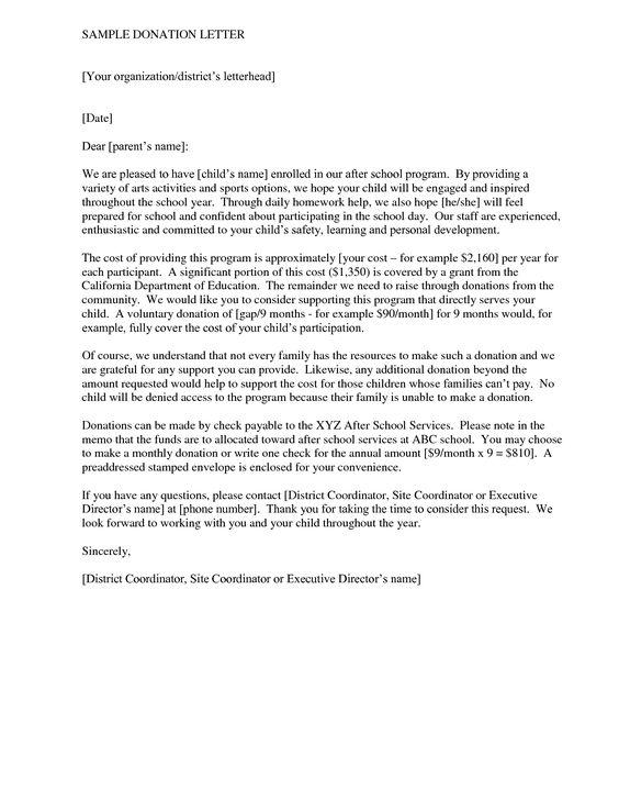 Business donation letter - Tips Writing a Sample Donation letter - sample safety program