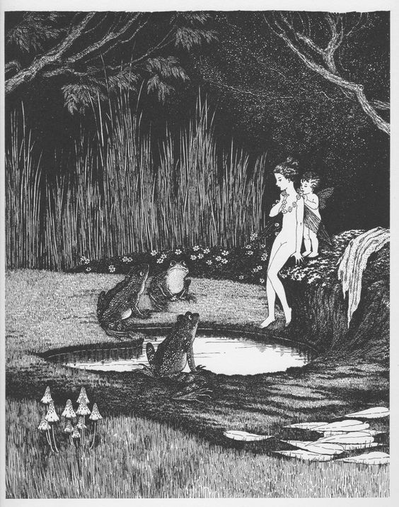 Ida Rentoul Outhwaite  The Disputed Bath  Print Genuine 1931