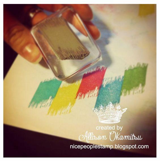 Hand Carved Ikat Stamp by Allison Okamitsu