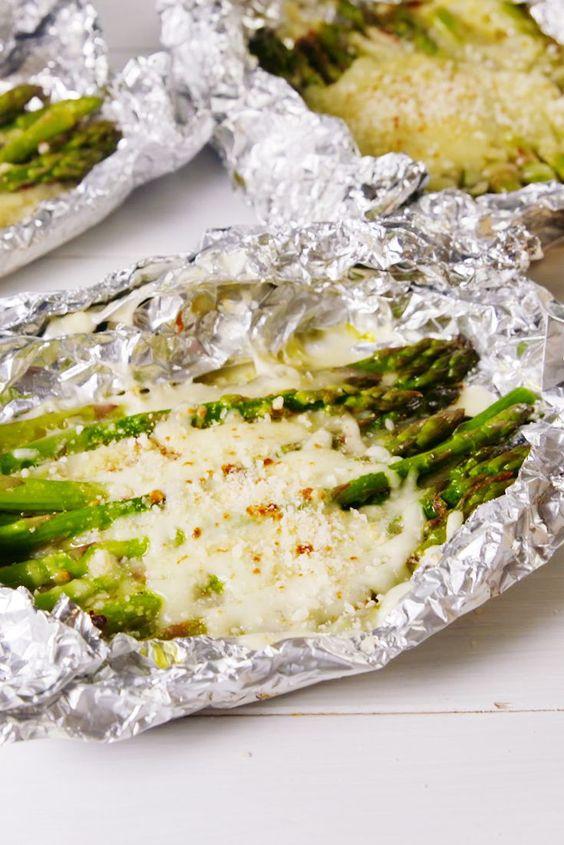 Cheesy Asparagus Foil Packs