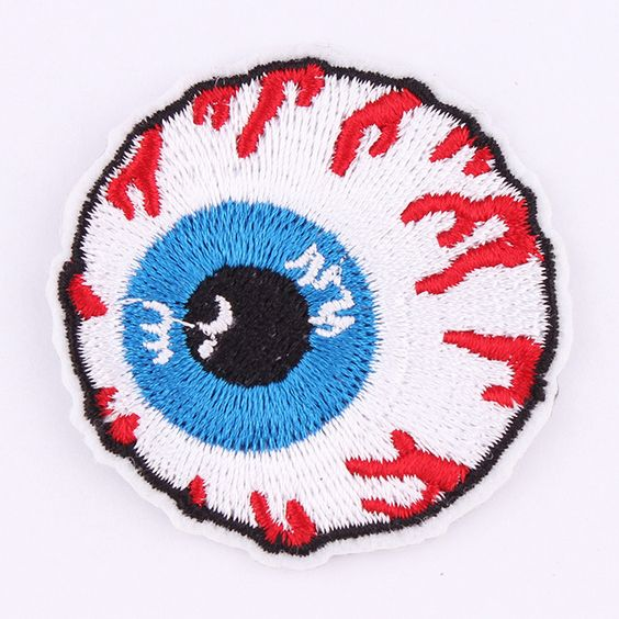 DOWN multiple colours Iron On Sew On Patch