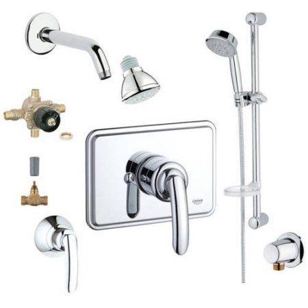 Grohe 2WVC-Tapc Custom Shower 2-Wall Volume Control System, Chrome