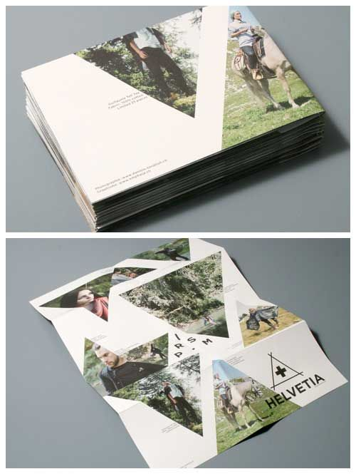 graphic design print portfolio layout ideas printed folded brochure