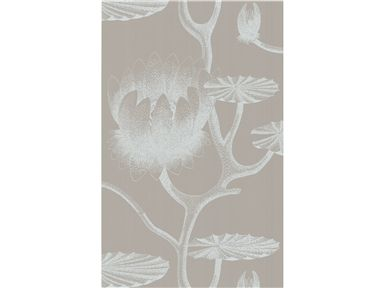 Cole & Son LILY WHITE/GREY 69/3110.CS - Lee Jofa New - New York, NY, 69/3110.CS,Lee Jofa,Paper,Grey, White,White, Grey,Up The Bolt,United Kingdom,Yes,Cole & Son,No,LILY WHITE/GREY