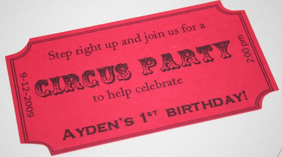 Step Right Up! It's a Circus Party Theme - this is what I'd wanted to do for #3's 1st bday, but we eventually went with SIMPLE