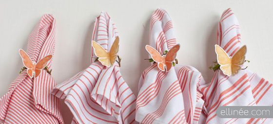Twig & Butterfly Napkin Ring Tutorial - with printable butterflies