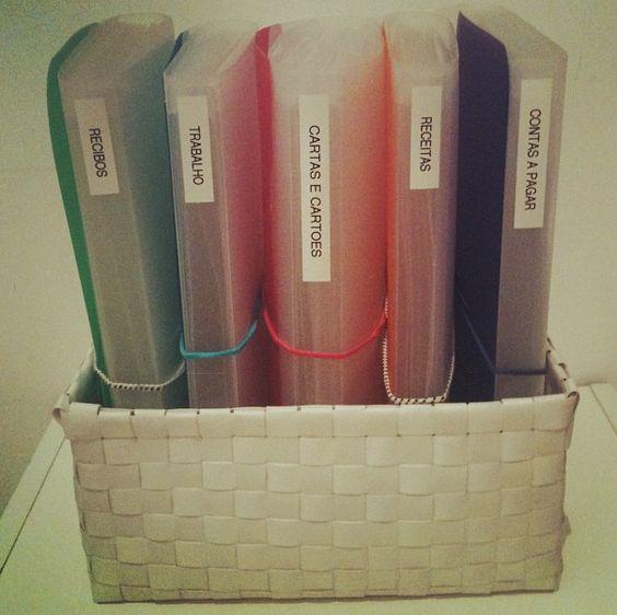 Pastas para organizar documentos em casa