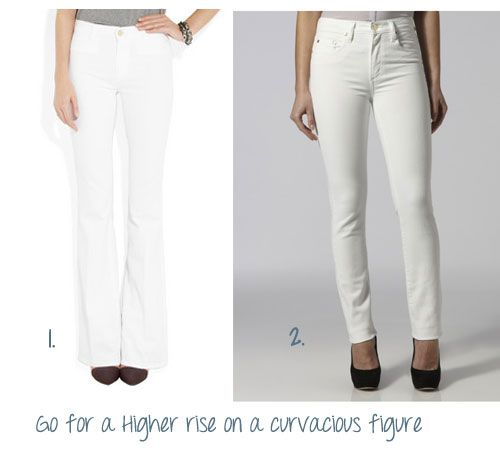 THE RULES: WHICH WHITE JEANS FOR YOUR BODYSHAPE & HOW TO WEAR THEM ...