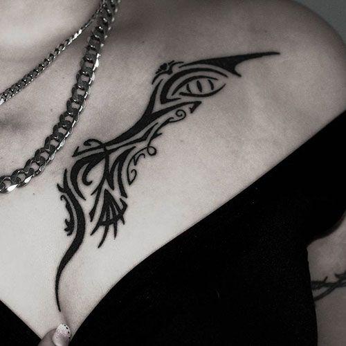 101 Best Chest Tattoos For Women 2020 Guide In 2020 Tribal Tattoos For Women Tribal Tattoos Chest Tattoos For Women