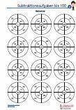 #Subtraktion #Rechenrad - 100 #Arbeitsblaetter / Übungen / Aufgaben für den Mathematikunterricht -  Grundschule.  Subtraktionsaufgaben Rechenrad bis 100, zum Vertiefen der Rechenfertigkeit. •2 Ringe /  4 Segmente - 3 Arbeitsblätter •2 Ringe /  5 Segmente - 3 Arbeitsblätter •2 Ringe /  6 Segmente - 3 Arbeitsblätter •2 Ringe /  7 Segmente - 3 Arbeitsblätter •2 Ringe /  8 Segmente - 3 Arbeitsblätter  15 Arbeitsblätter