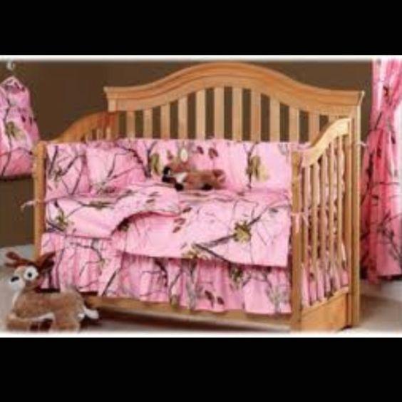 Bass Pro Pink Camo Crib Bedding