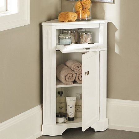 weatherby bathroom corner storage cabinet for the home pinterest corner storage the o. Black Bedroom Furniture Sets. Home Design Ideas