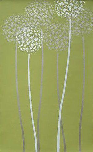 Cutting Edge Stencils - Allium Gladiator Flower Stencil