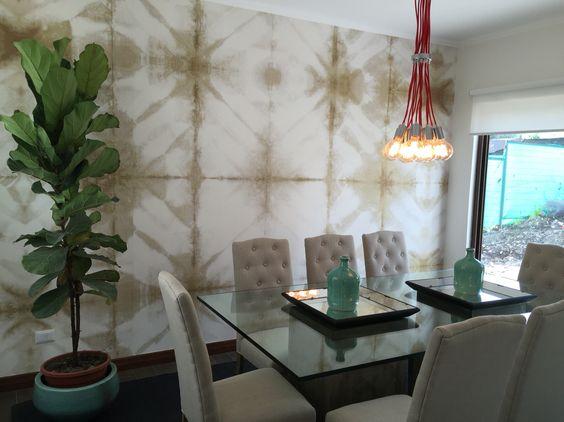 Comedor Punto focal en el muro, entretenido, colorido, cálido. Lo ...