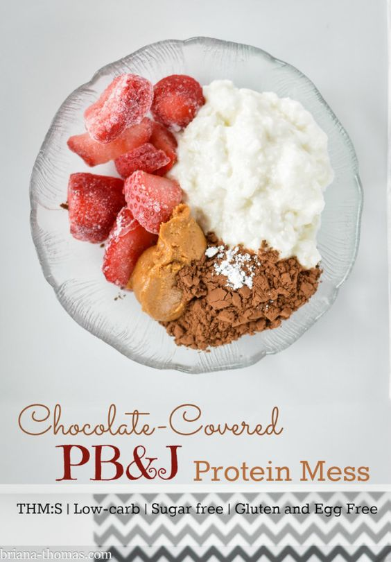 ... -Covered PB&J Protein Mess | Recipe | Cottages, Powder and Yogurt