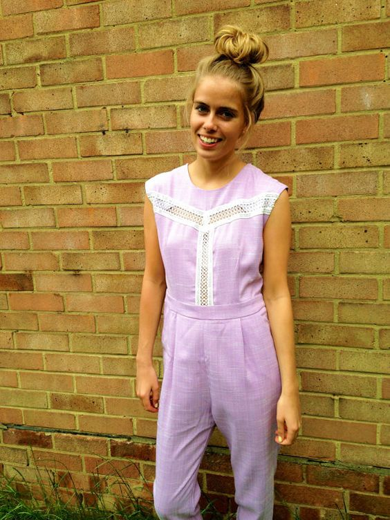 SALE  ROSIE lilac sleeveless jumpsuit with sequin by EthelandMo