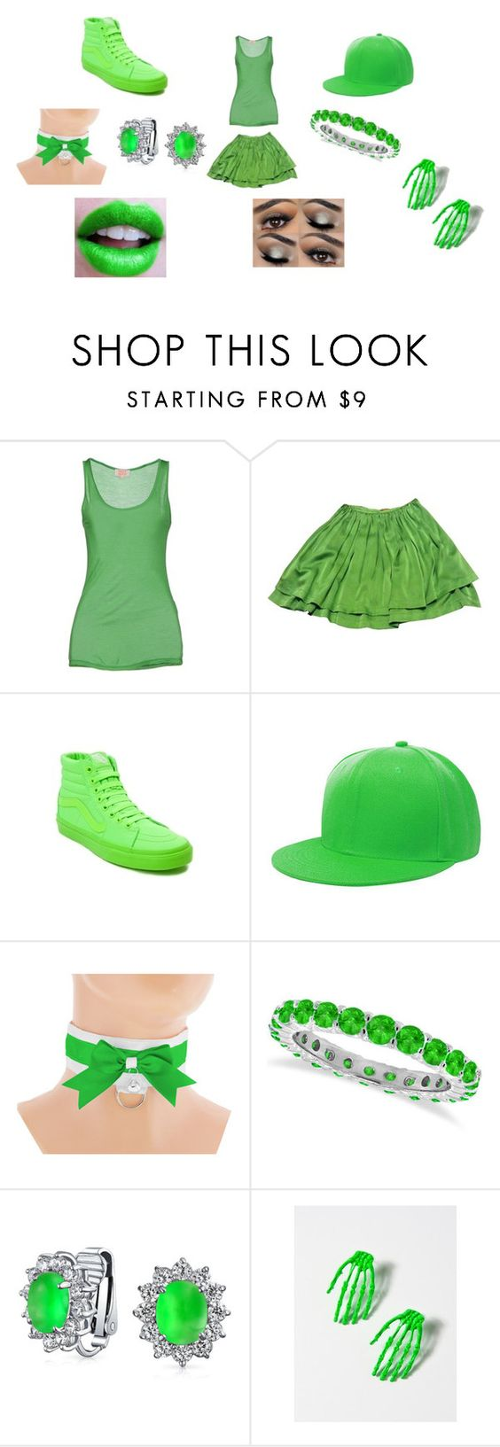 """poison ivy"" by vyesica-yv on Polyvore featuring Not Shy, Peter Jensen, Vans, Allurez and Bling Jewelry"