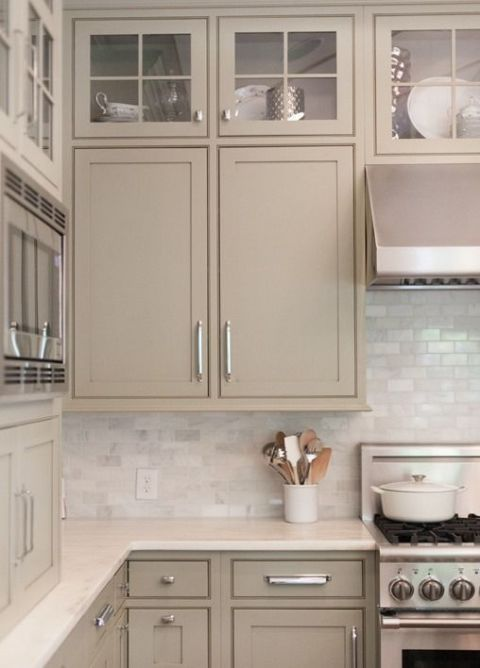 The Best Neutral Putty Paint Colors Cottage And Vine Kitchen Trends Taupe Kitchen Taupe Kitchen Cabinets