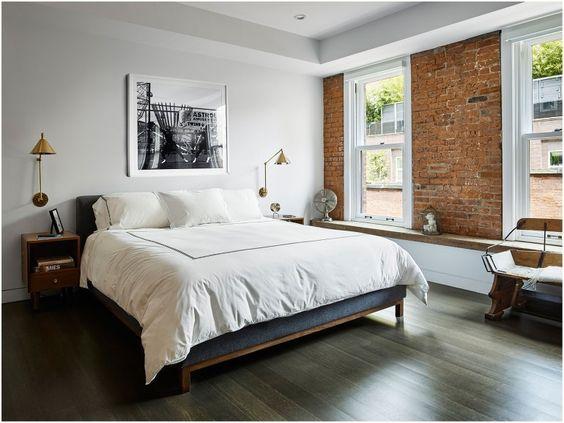 ニューヨーク インテリア 寝室 アート コーディネート例