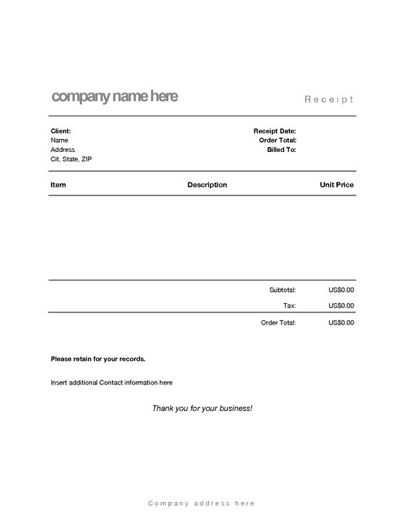 Blank Hotel Receipt Books  Hotel Receipt Template  Holiday Inn