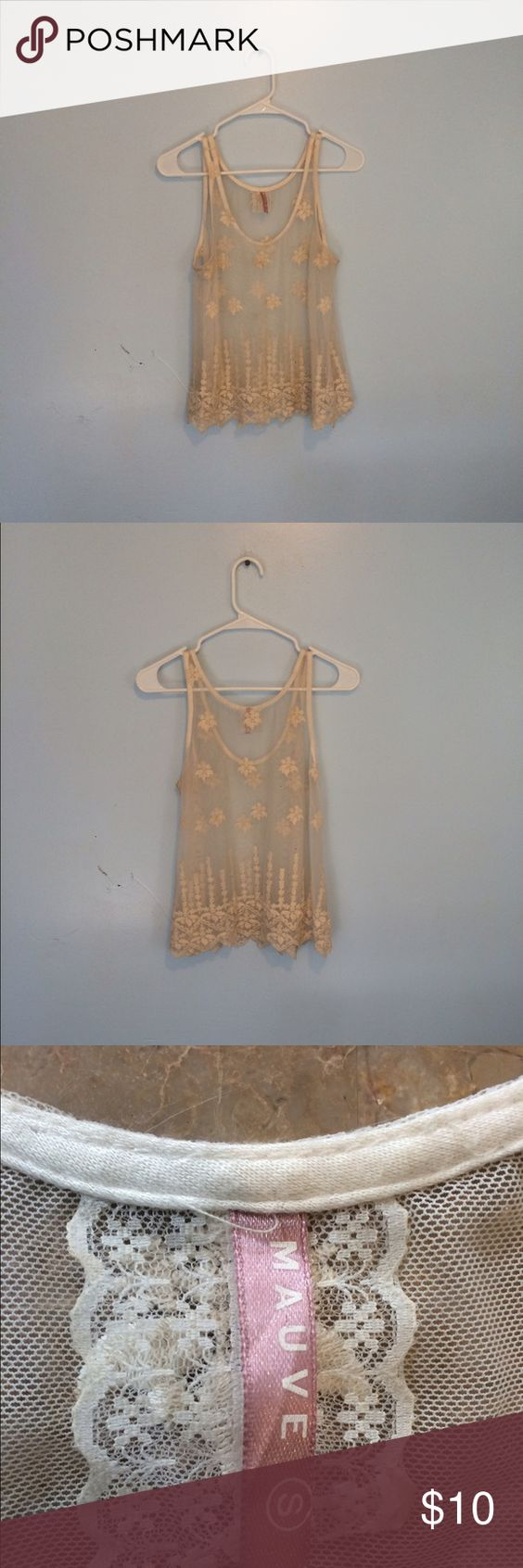 Sheer tank top Flowy sheer tank top, great for layering! Good condition! Tops Tank Tops