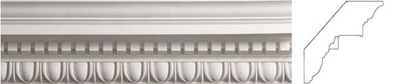 C125 Large Egg & Dart with Dentil