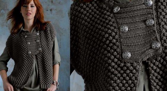 comment tricoter le col d'une veste
