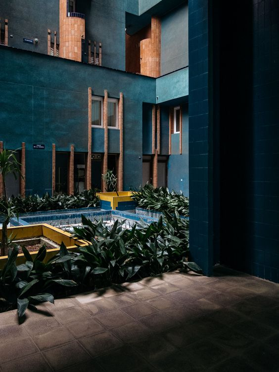 Ricardo Bofill's Walden 7 in the outskirts of Barcelona, Spain