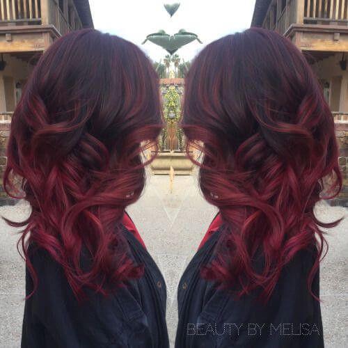 Die 27 Heissesten Roten Ombre Frisuren Frauen Blog Haarfarben Haarfarbe Ideen Haare