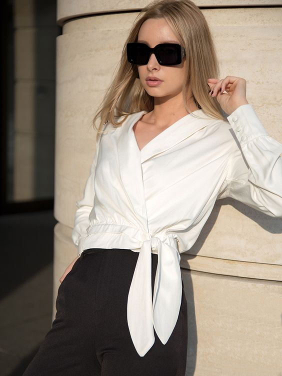 Lichi :: Блузка на запах с завязками