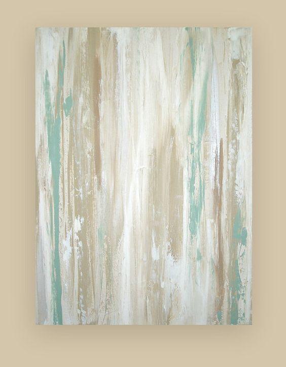 "Art Acrylic Abstract Painting on Canvas Titled: WHITEWASHED 2 30x40x1.5"" by Ora Birenbaum #buyart #cuadrosmodernos #art"