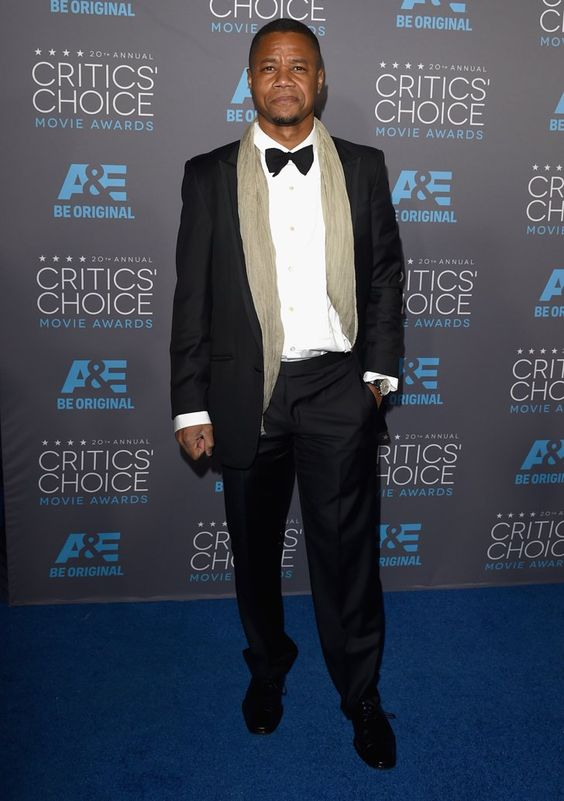 Pin for Later: Die Stars feiern weiter bei den Critics' Choice Movie Awards! Cuba Gooding Jr.